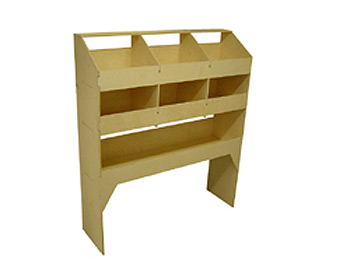 Wooden Rack 6 Pigeon Hole Unit 400mm Deep